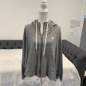 Adidas Gray Hooded Sweater